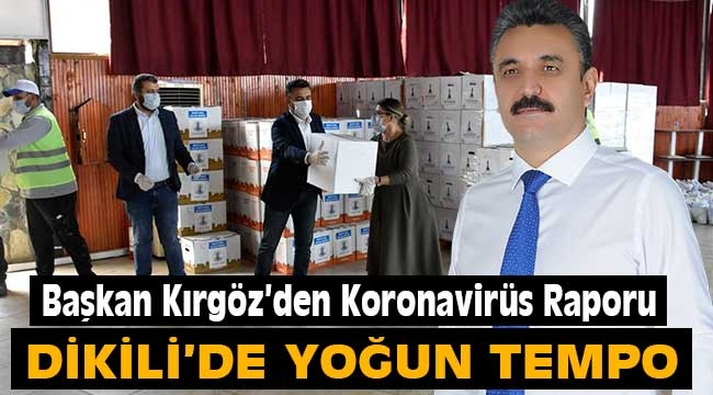 Başkan Kırgöz'den Koronavirüs Raporu