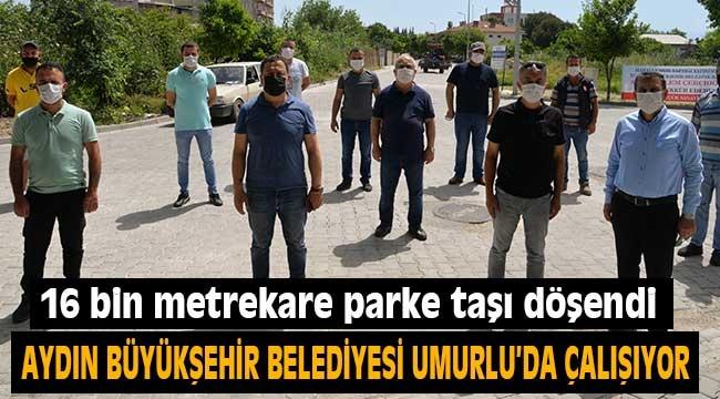 Aydın Büyükşehir Belediyesi, Umurlu'da çalışıyor