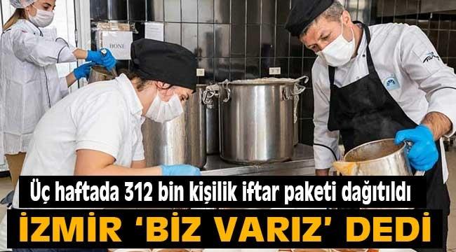 Üç haftada 312 bin kişilik iftar paketi dağıtıldı