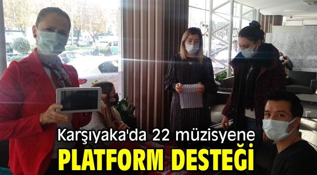 Karşıyaka'da 22 müzisyene platform desteği