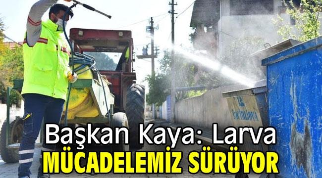 Başkan Kaya: Larva mücadelemiz sürüyor