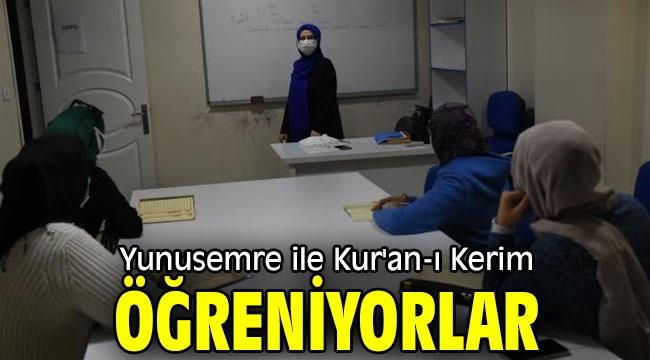 Yunusemre ile Kur'an-ı Kerim öğreniyorlar